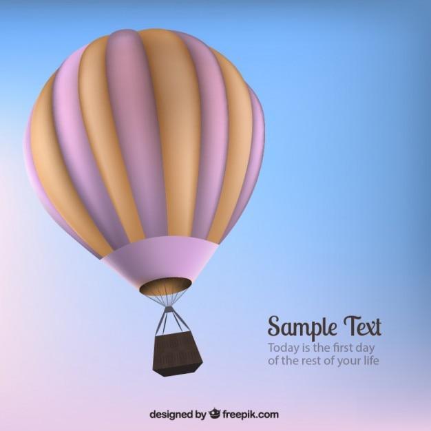 3d balão de ar quente Vetor grátis