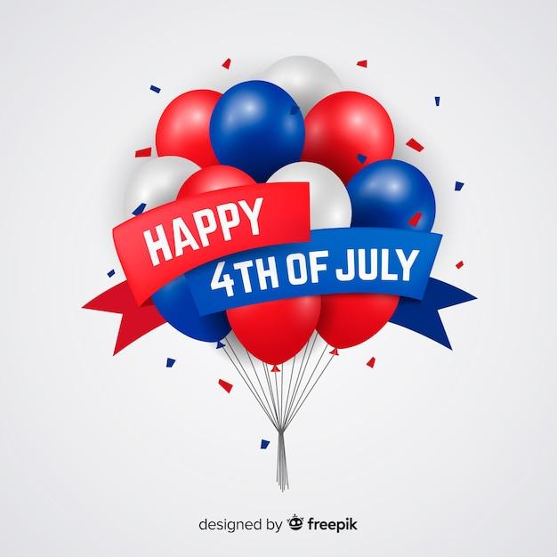 4 de julho de fundo festivo Vetor grátis
