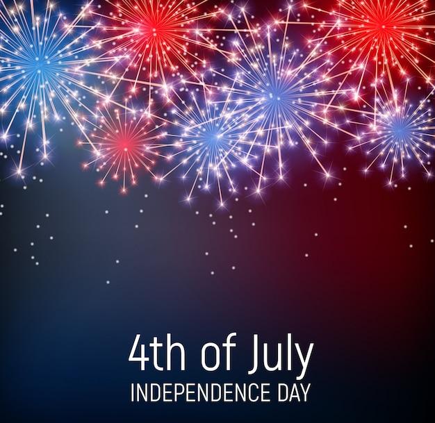 4 de julho, dia da independência dos estados unidos Vetor Premium