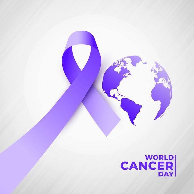 4 de julho dia mundial do câncer fundo Vetor grátis