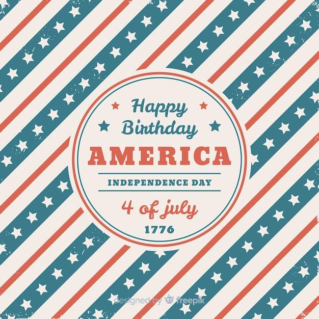 4 de julho - fundo do dia da independência Vetor grátis