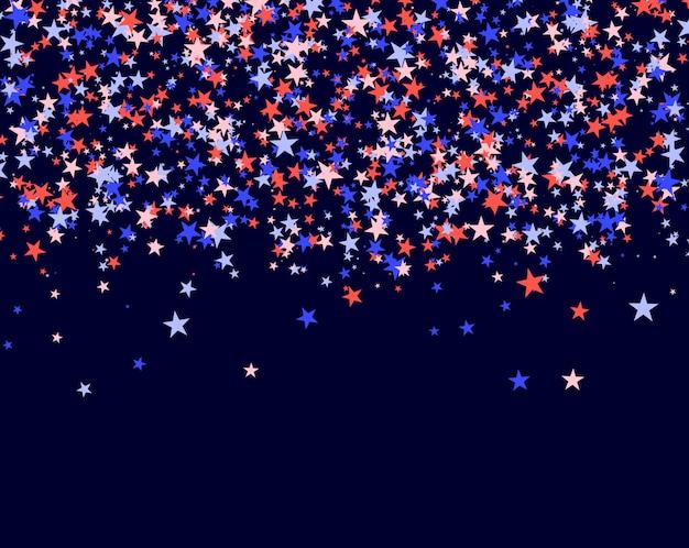 4 de julho fundo feito de estrelas Vetor Premium