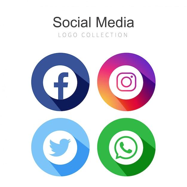 4 redes sociais Vetor grátis