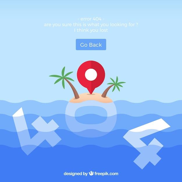 404 conceito de erro com a ilha Vetor grátis