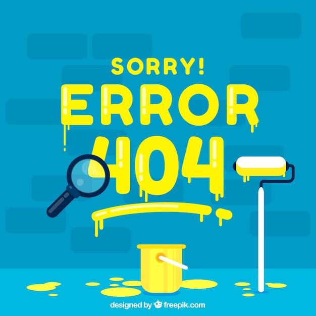 404 conceito de erro com tinta Vetor grátis