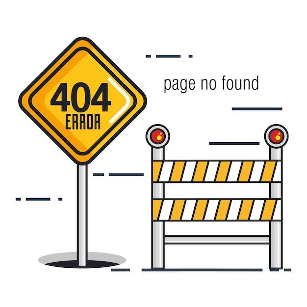 404 ícones de erro de conexão Vetor Premium