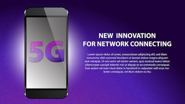 5g nova inovação para conexão de rede Vetor Premium