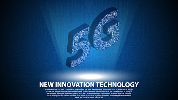 5g novo fundo de tecnologia de inovação Vetor Premium