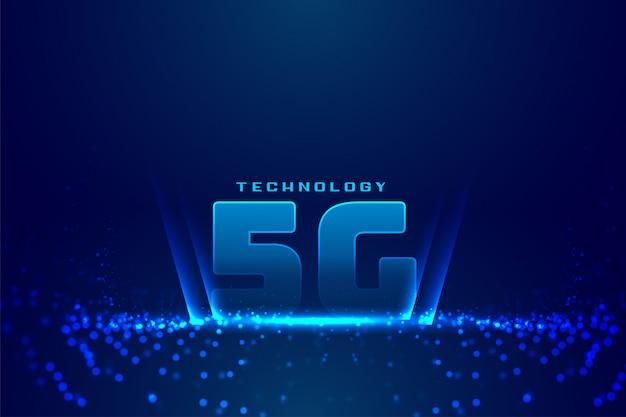 5g quinto fundo digital de tecnologia de geração Vetor grátis