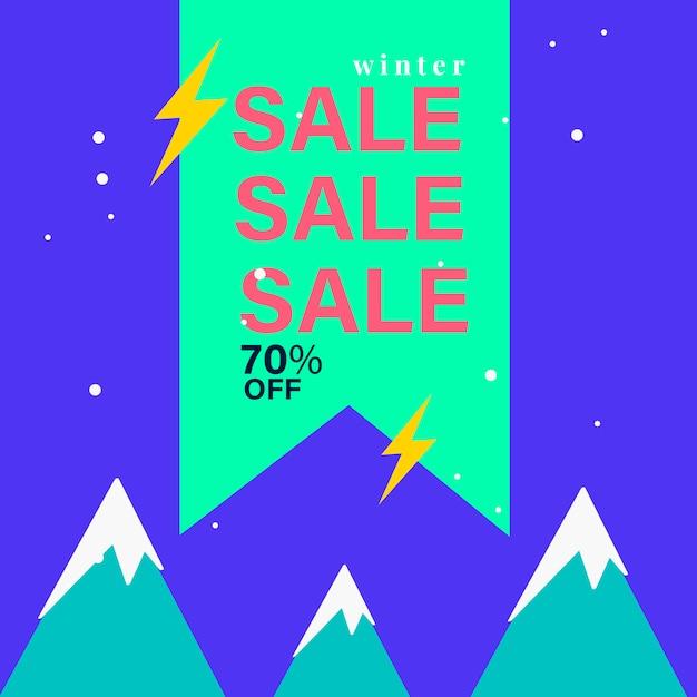 70% de desconto no selo de venda Vetor grátis