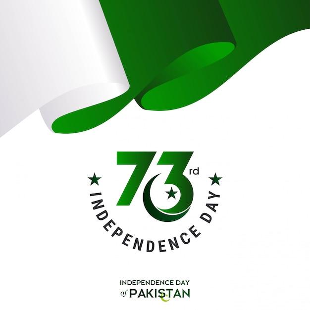 73º dia da independência do paquistão Vetor grátis