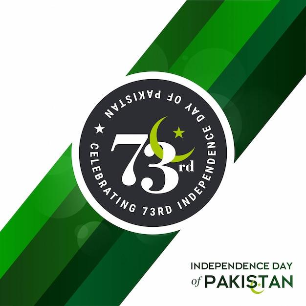 73º dia da independência do paquistão Vetor Premium