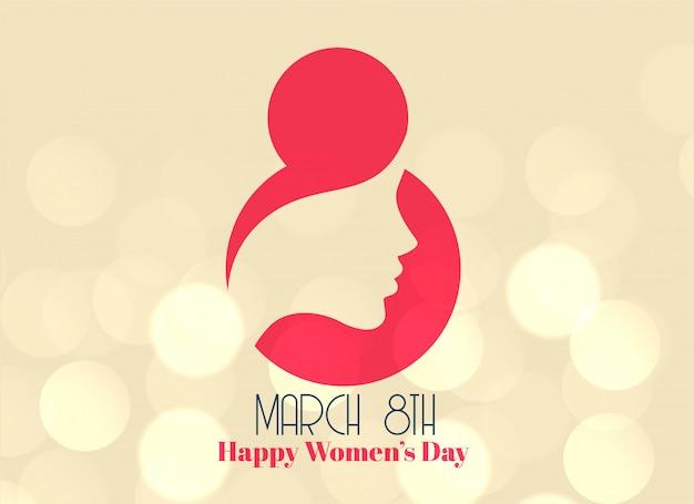 8 de março criativo design de dia feliz feminino Vetor grátis