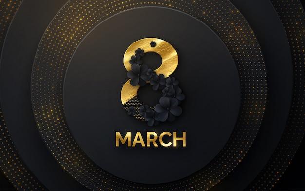 8 de março. dia internacional da mulher. ilustração em vetor primavera férias Vetor Premium