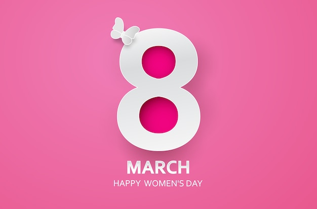 8 de março feliz dia das mães Vetor Premium