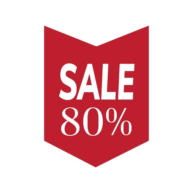 80% de desconto no vetor de distintivo de venda Vetor grátis