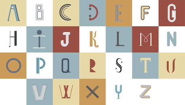 A, alfabeto inglês, tipografia, ilustração Vetor grátis