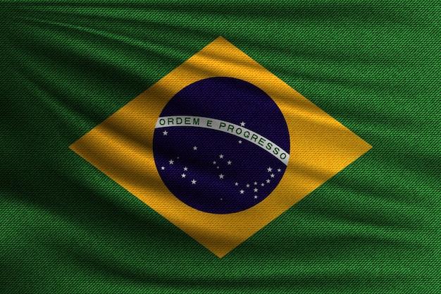 A bandeira nacional do brasil. Vetor Premium