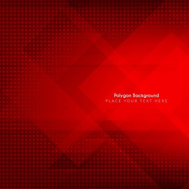 A cor vermelha do projeto do fundo poligonal abstrata Vetor grátis