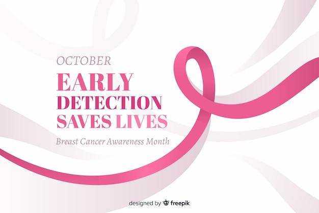 A detecção precoce de outubro salva vidas texto para conscientização do câncer de mama Vetor grátis