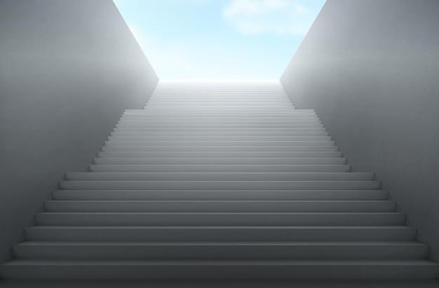 A escada leva ao céu. Vetor grátis