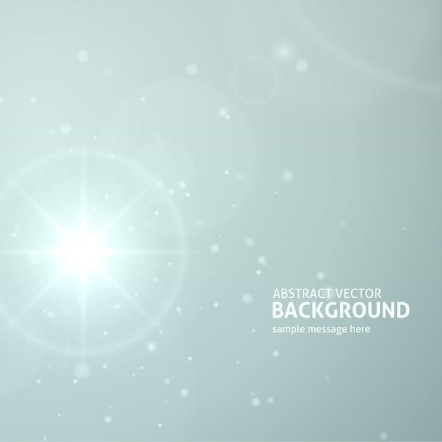 A explosão abstrata da luz do alargamento da lente ou o sol com raios vector o fundo. Vetor Premium