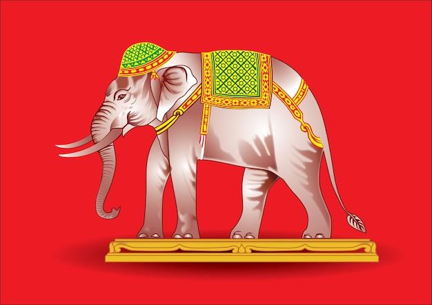 A guerra dos elefantes é linda. Vetor Premium