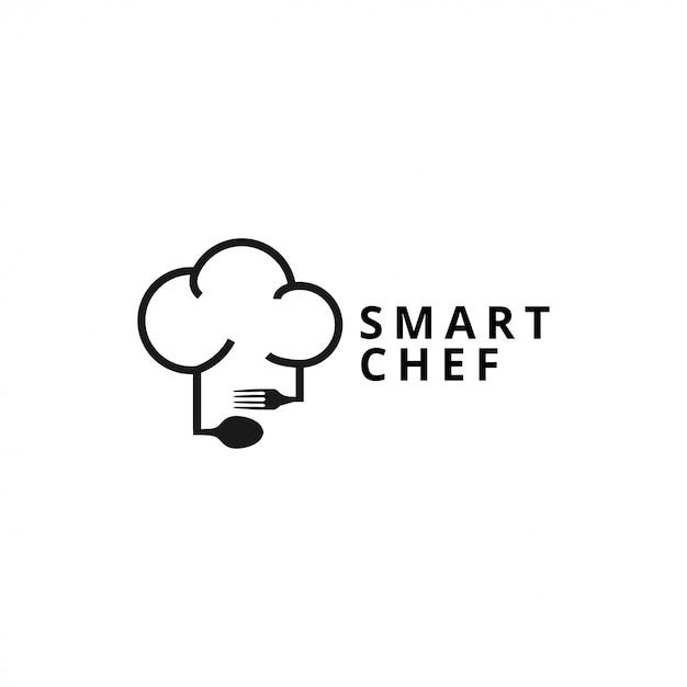 A ilustração do modelo de logotipo de chef Vetor Premium