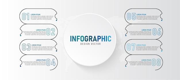 A ilustração infográfico pode ser usada para apresentações processos layouts banners dados gráficos Vetor Premium