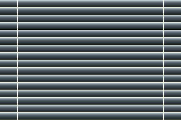 A janela cega o fundo no estilo realístico. ilustração vetorial Vetor Premium