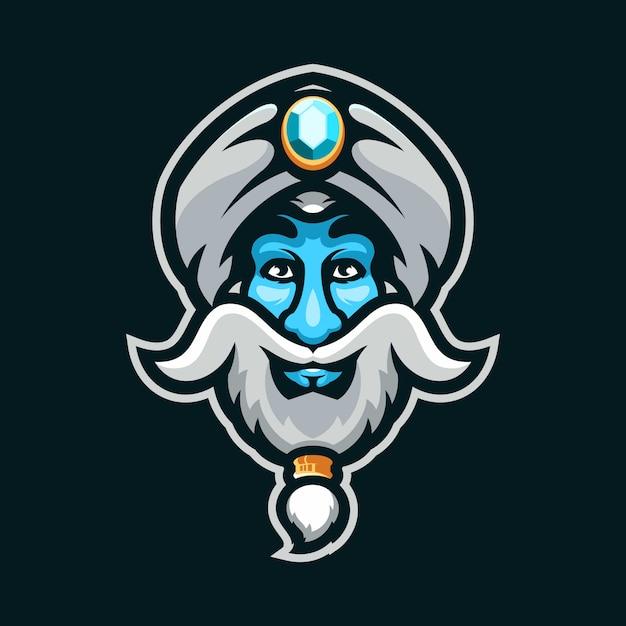 A lenda do rei jin logo Vetor Premium