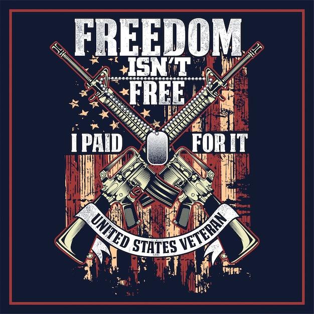 A liberdade não está livre eu pago por isso Vetor Premium