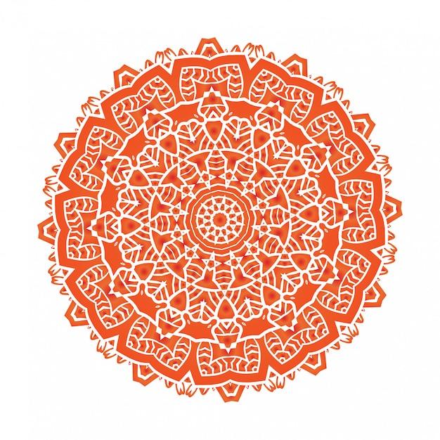 A meditação étnica da mandala do fractal psicodélico parece floco de neve Vetor Premium