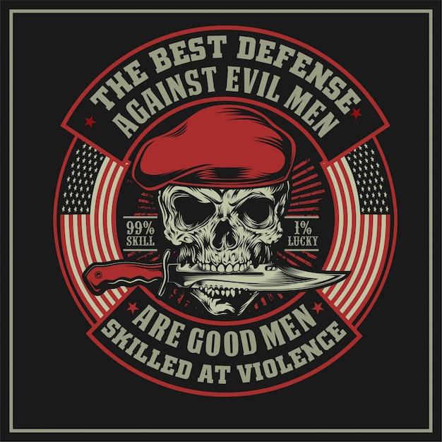A melhor defesa contra os homens maus Vetor Premium