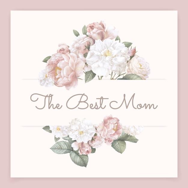 A melhor rotulação de mamãe Vetor grátis