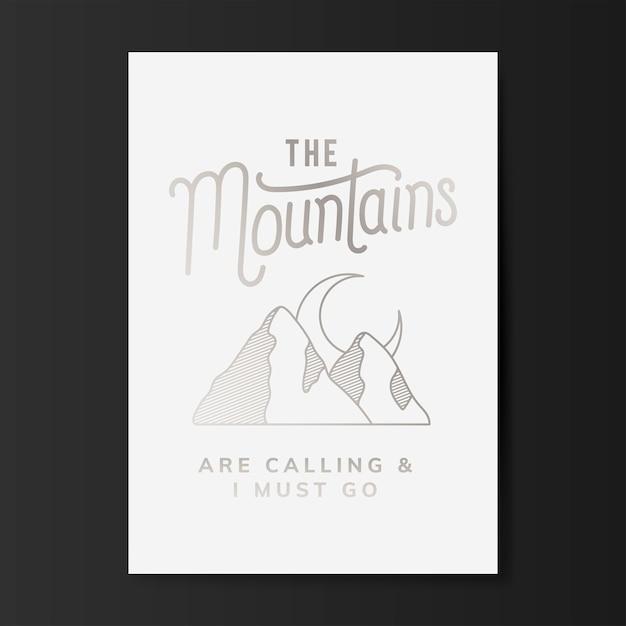 A, montanhas, logotipo, ilustração Vetor grátis