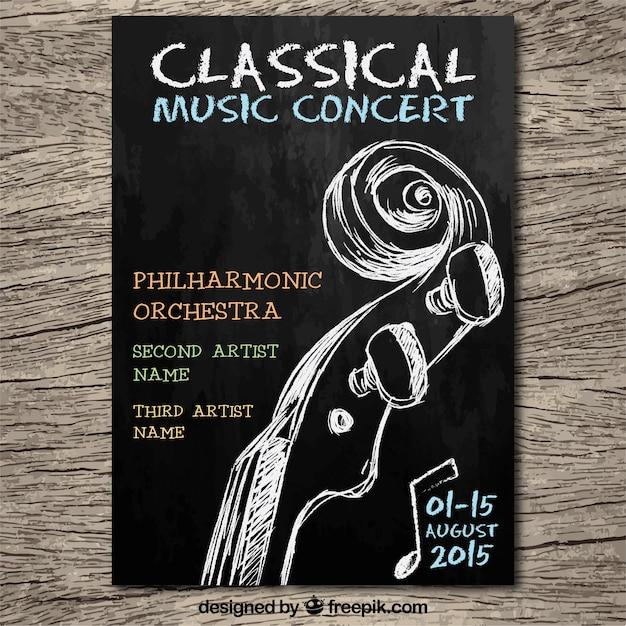 A m sica cl ssica concerto poster vetor gr tis for Musica classica