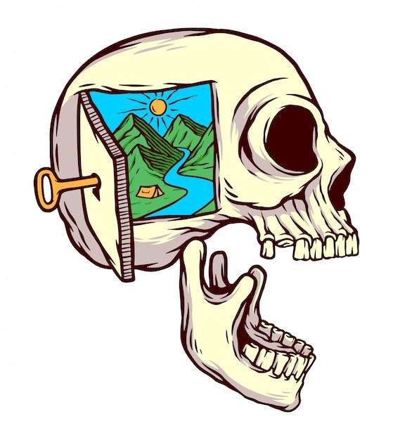 A natureza é minha ilustração da mente Vetor Premium