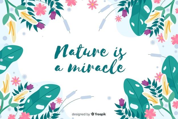 A natureza é um fundo floral milagroso Vetor grátis