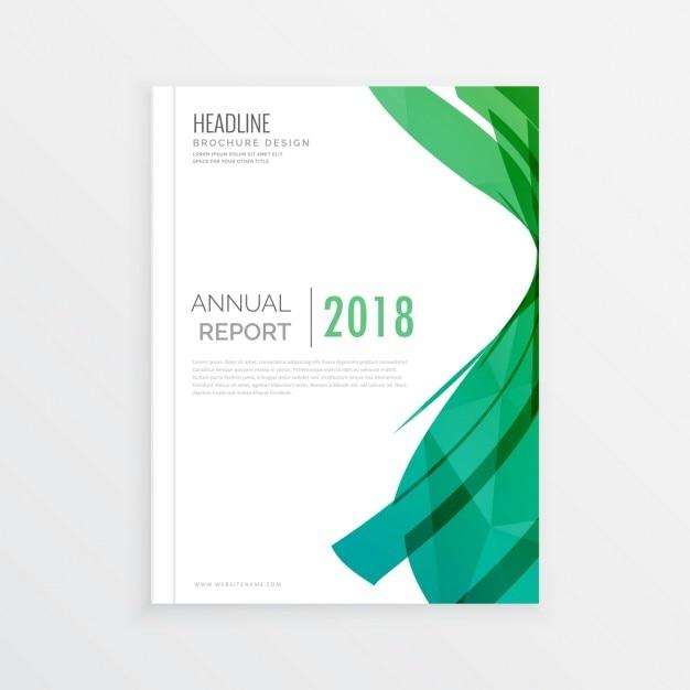 A página abstract moden projeto capa de revista tema verde relatório abrangem annial brochura mínima Vetor grátis