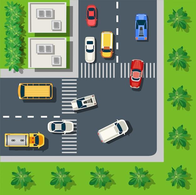A paisagem urbana Vetor Premium