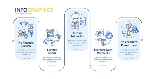 A vantagem de ser um modelo de infográfico sem crédito Vetor Premium