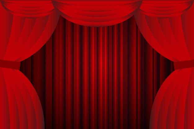 Abra Cortinas Vermelhas Com ópera Ou Fundo De Teatro