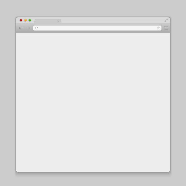 Abra o fundo do navegador da janela de internet. Vetor Premium