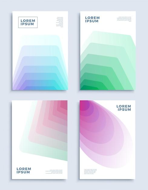 Abrange modelos de design abstrato moderno definido. Vetor Premium