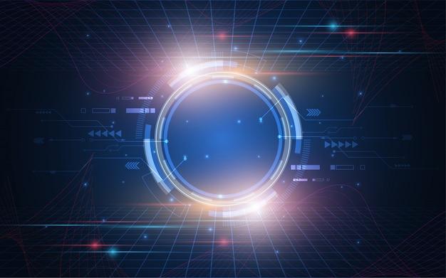 Abstract technology background inovação de conceito de comunicação hi-tech Vetor Premium