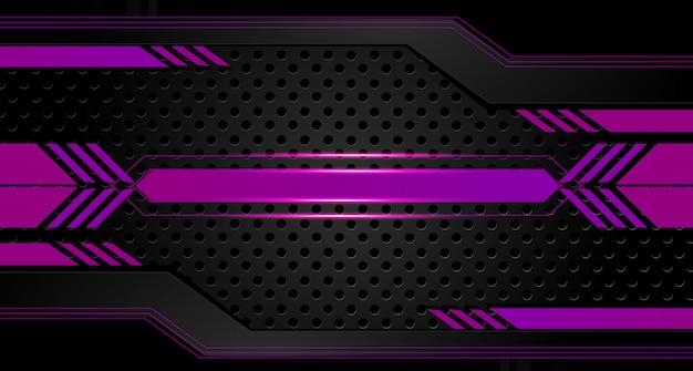 Abstract vector design gráfico brochura fundo roxo e preto Vetor Premium