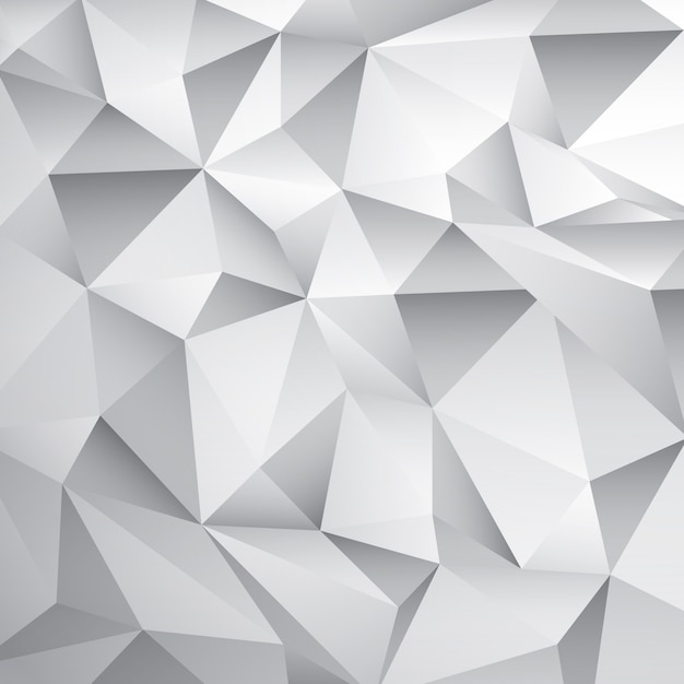 Abstract white poly background Vetor grátis