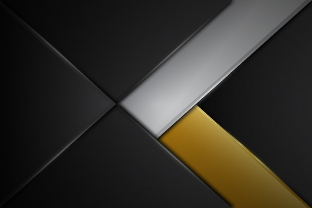 Abstrata cinza linha lustrosa metal design moderno luxo futurista fundo ilustração vetorial Vetor Premium