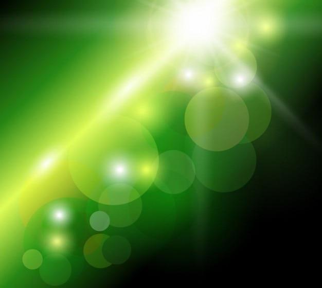 abstrata fundo verde bokeh Vetor grátis